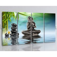 paintings for living room buddha feng shui wall art painting living room 4 panels canvas print
