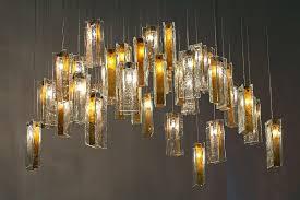 innovative art glass chandelier modern art glass lighting gold drops chandelier using 46 intended for