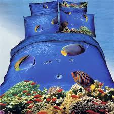 ocean blue tropical marine life bright colorful undersea world regarding duvet covers colors idea 19