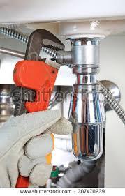 sanitary works plumbing work sanitary engineering repairing pipe stock photo