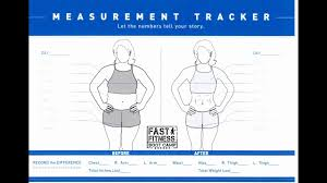 Inches Lost Chart 20 Veritable Fitness Measurements Chart