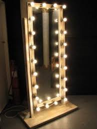 Vanities for bedrooms with lights and mirror