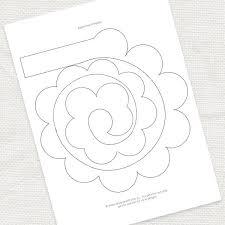 Paper Flower Pattern Impressive Free Paper Flower Patterns Thevillasco