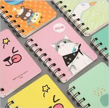 80 sheets a7 cartoon cute cats schedule notebook mini coil diary book scratch notepad memos escolar