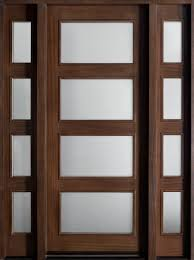 contemporary series mahogany solid wood front entry door single with 2 sidelites db