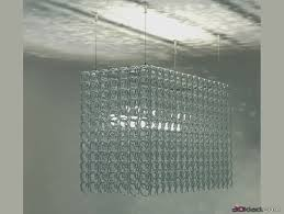 3d model ceiling lamp in art deco style crystal chandelier recta giovanni sforza