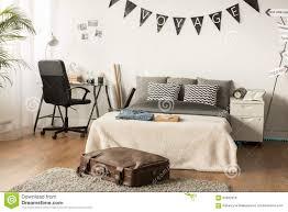 Stilvolles Schlafzimmer Für Jugendlichen Stockfoto Bild Von