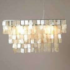 rectangular capiz chandelier shell large