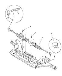 R5105330aa genuine mopar gear power steering 2004 dodge neon gear rack pinion and attaching parts diagram