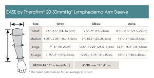 Arm Sleeve Size Chart Lymphedema Moderate Compression Arm Sleeve