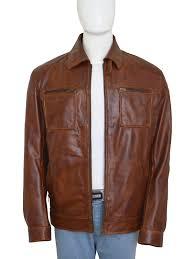 arrow mens red leather zipper motorcycle jacket arrowping
