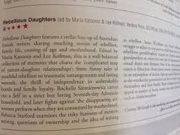 rebellious daughters receives four star review from books  these intimate stories will appeal to readers of family memoir and essay collections such as mothermorphosis