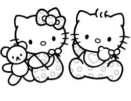 Hello Kitty Colring Sheets Cat Coloring Pages Free Shutdownbaincapital Org