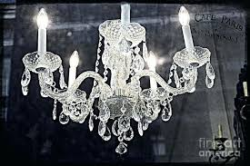 silver crystal chandelier surreal cafe art photograph by tribecca home mist