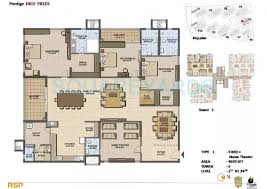 3 BHK 4070 Sq. Ft. Apartment for Sale in Prestige High Fields at Rs  6100/Sq. Ft, Hyderabad