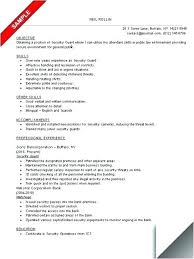 Security Officer Job Description For Resume Jobs Guard Example