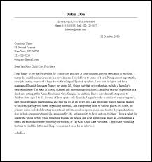 Cover Letter For Child Care