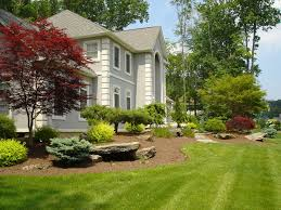 Front of House Landscape in Montebello, NY: This front yard ...