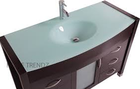 glamorous tempered glass vanity top with integrated sink 32 in