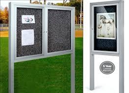 enclosed bulletin board outdoor boards with legs canada