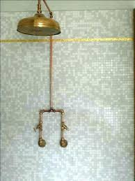 Copper shower fixtures Bespoke Copper Outdoor Shower Kit Juanmorenoco Showers Copper Outdoor Shower Fixtures Image Result For Without