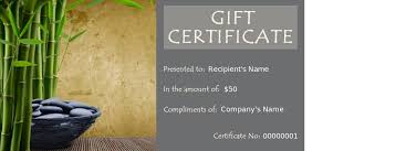 mage gift certificate templates spa template simple