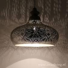 Grote Hanglamp Voor Boven De Eettafel Vintage Zilver Met Hout