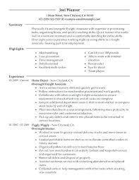 Merchandising Resume Merchandising Resume Examples Sample For Retail Associate Sales