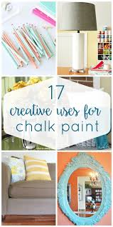so many great ideas of ways to use up leftover chalk paint or to get comfortable