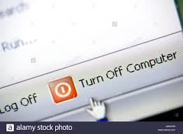 Turn Off Computer Computer Program Display To Turn Off Computer Stock Photo 11082608