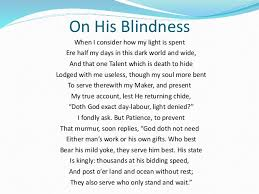 poem analysis on on his blindness by john milton 5