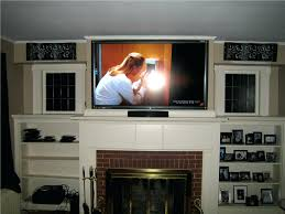 wood burning can you put smlf putting tv above fireplace