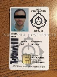 Scp Foundation Vending Machine Custom Custom SCP Foundation ID Card Badge Secure Contain Protect