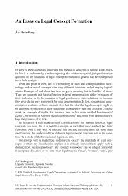 an essay on legal concept formation springer inside