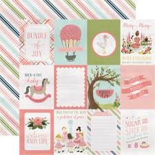Babygirl Cards Rock A Bye Baby Girl Collection Carta Bella Paper