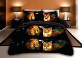 lion bed set wolf print micro fiber printing bedding comforter set lion king cot bed set