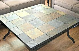 slate top end table slate top end table tables tile iron with inlay coffee and slate top dining table set