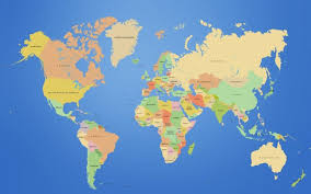 Map World Map Continents Wallpapers Hd Desktop And