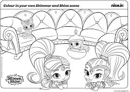 Christmas Shimmer And Shine Coloring Pages Printable Coloring Page