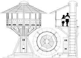 tree house floor plan. Astounding Tree House Drawing Plans 2 Technical Treehouse On Home Design Floor Plan