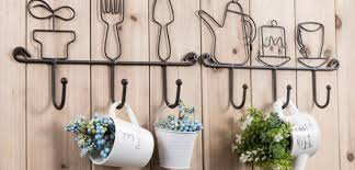 cute kitchen wall hooks rack for home restaurant coffee office hanging coats keys bags and cups towels