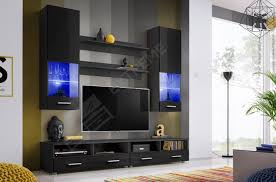 Small Picture Living Room High Gloss Furniture Set Display Wall Unit Modern TV