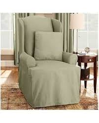 Armchair slipcovers Large Chair Sure Fit Cotton Duck Wing Chair Slipcover Home Furniture Design Pinterest 18 Best Wing Chair Slipcover Images Wingback Chair Slipcovers Tub