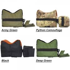 usa laspur army green tactical shooting rest bench front rear sand bag combo set