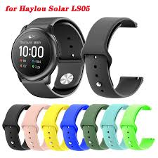 For <b>Haylou Solar</b> LS05 Wrist Strap Silicone Replacement Watch ...
