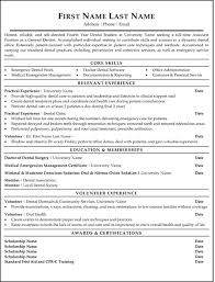Dental Resume Template Top Dental Resume Templates Samples Free