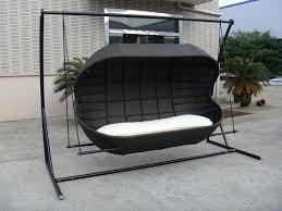 wicker swing chair weller outdoor wicker basket swing chair with stand