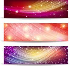 abstract wave and light banner