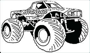 Monster Truck Coloring Pages To Print Grave Digger Monster Truck