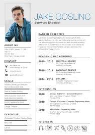 Free Simple Fresher Resume Simple Resume Template Resume